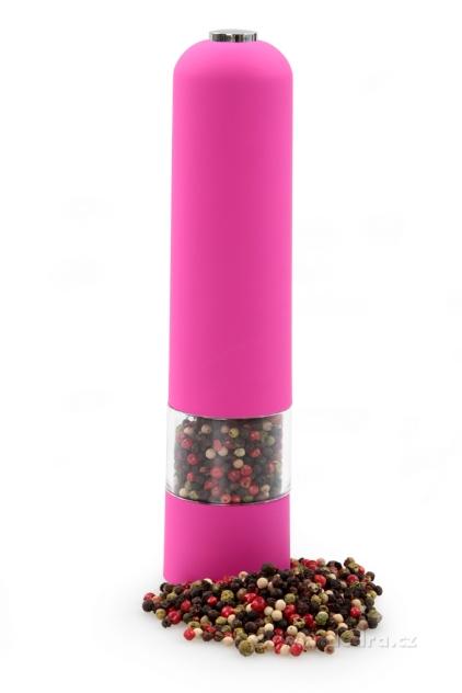 DEDRA XXL el. mlýnek s LED osvětlením růžový