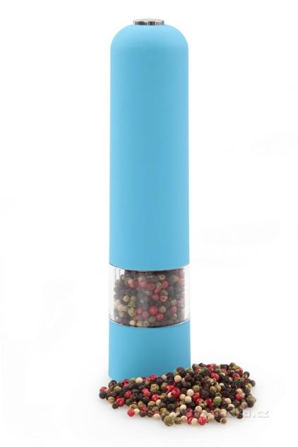DEDRA XXL el. mlýnek s LED osvětlením modrý