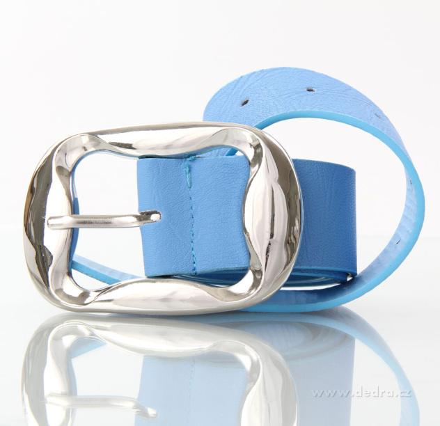 Dámský pásek z ekokůže modrý