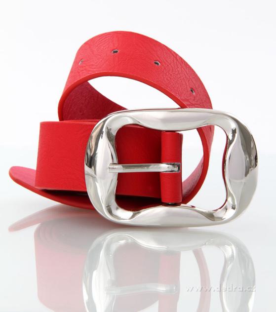 Dámský pásek z ekokůže červený
