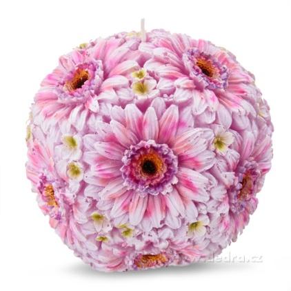 DEDRA Květinová koule dekorativní svíce z fial.-fuchs.gerber