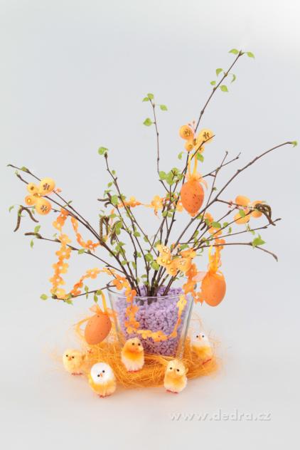 Dedra Velká sada na výrobu velikonoční dekorace oranžová