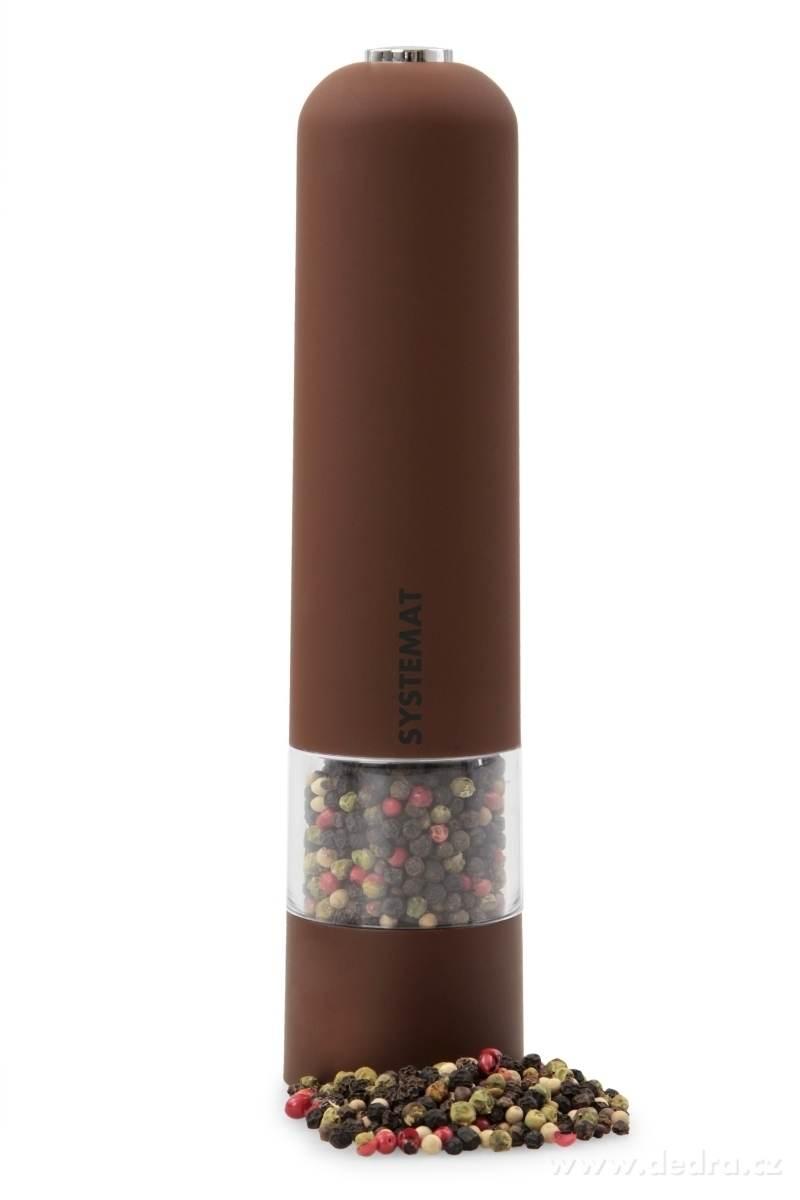 Dedra XXL el. mlýnek s LED osvětlením hnědý