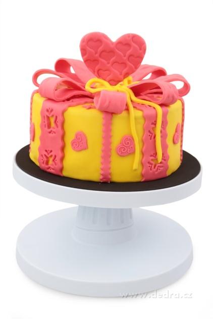 Dedra Velký otočný podnos na dorty