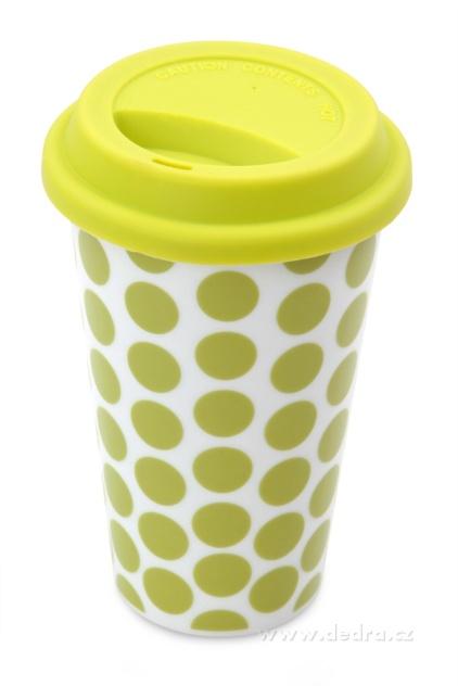 Dvoustěnný porcelán. termo hrnek KELIMERO jas.zelený DEDRA