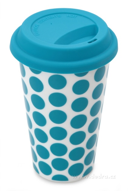 Dvoustěnný porcelán. termo hrnek Kelimero modrý Dedra