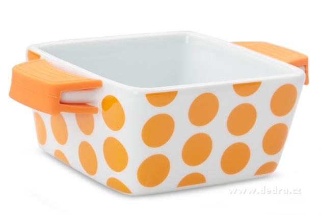 DEDRA SINGLPORCE zapékací porcelánová miska oranžová