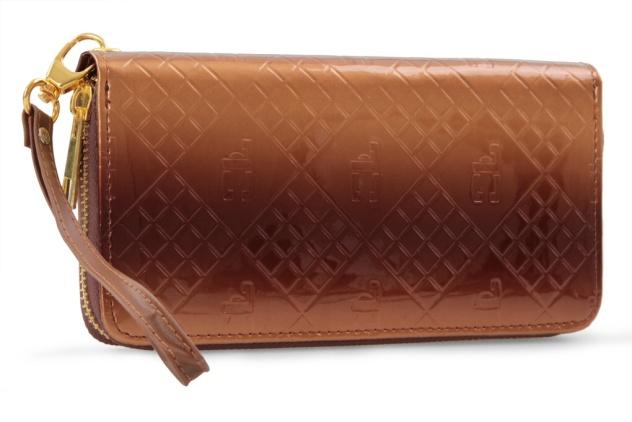 Luxusní dámská peněženka s FC monogramem , přírodní tóny