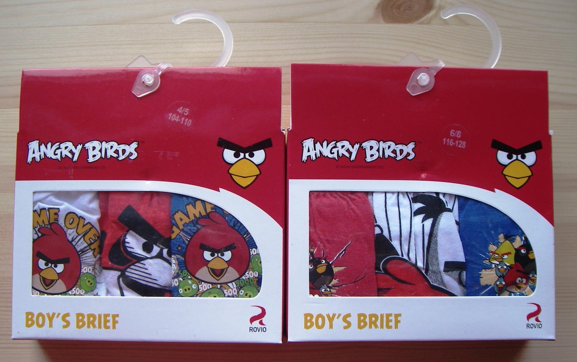3ks slipy Angry Birds 92-98cm / 2-3 roky