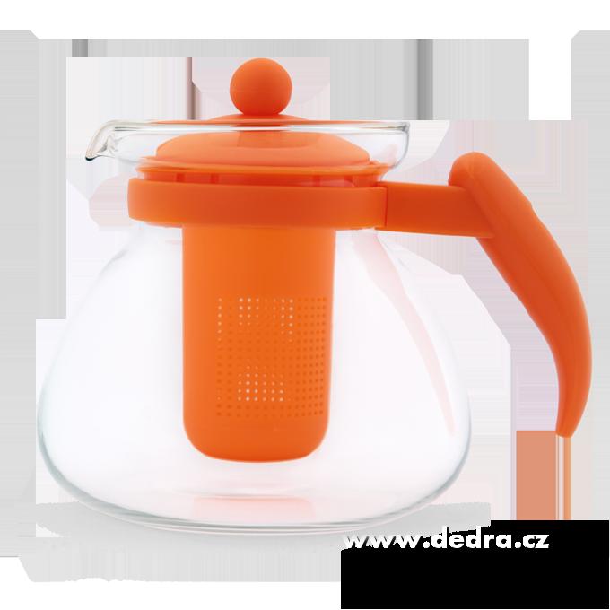 SKLENĚNÁ KONVICE oranžová,1500 ml DEDRA