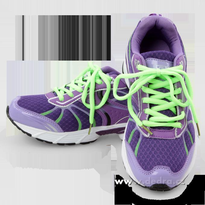 Sportovní obuv dámská - fial-zelené Dedra