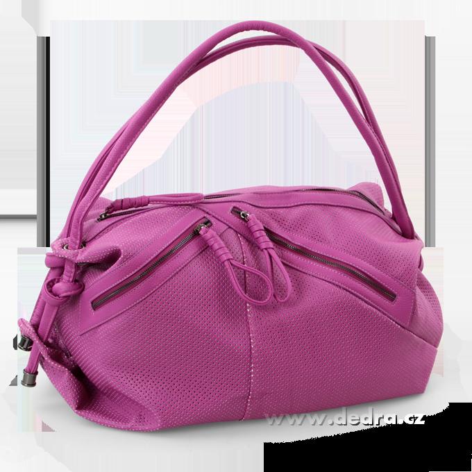 JASMINE velká elegantní kabelka fialková Dedra