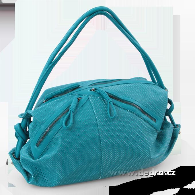 JASMINE velká elegantní kabelka tyrkysová Dedra