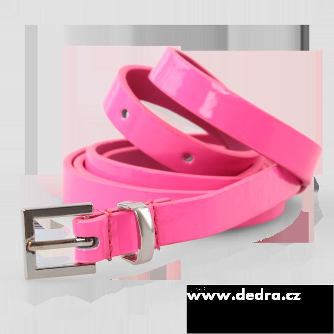 Úzký dámský pásek neonově růžový Dedra