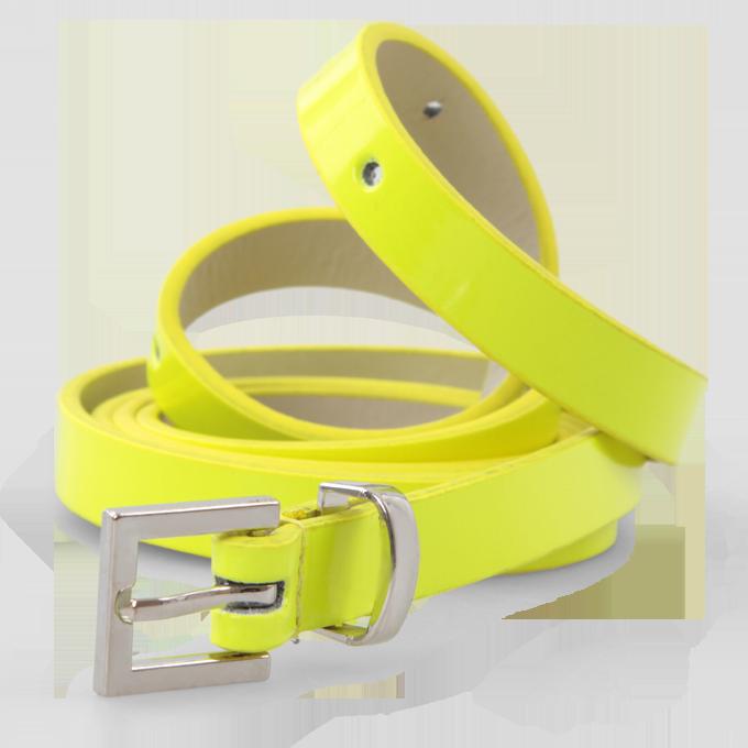 Úzký dámský pásek neonově žlutý Dedra