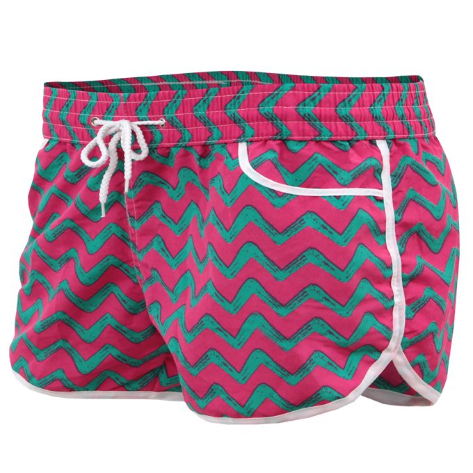 Dámské šortky sportovního střihu růžovo-zelené Dedra