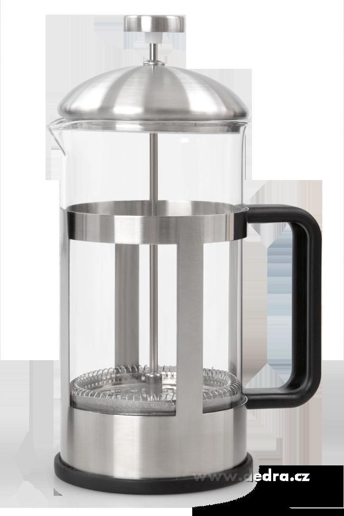 XL french press nerez na mletou kávu a sypané čaje Dedra