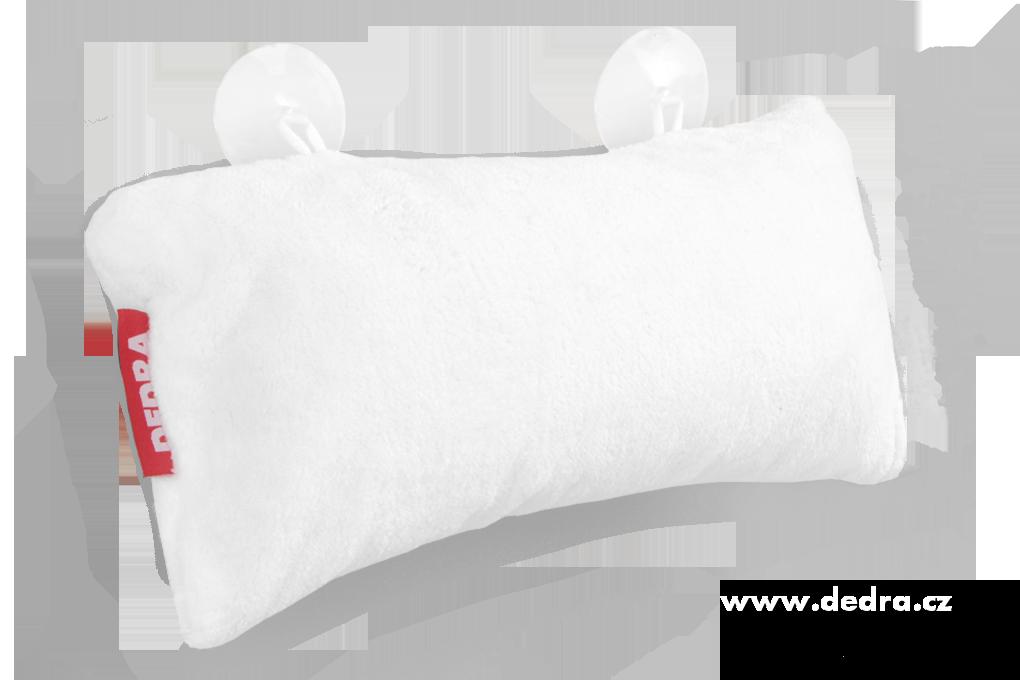 Dedra Polštář do vany z hebkého mikrovlákna nafukovací+přísavky , bílý