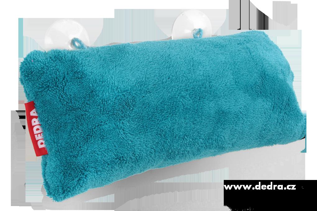 Dedra Polštář do vany z hebkého mikrovlákna nafukovací+přísavky , tyrkysový