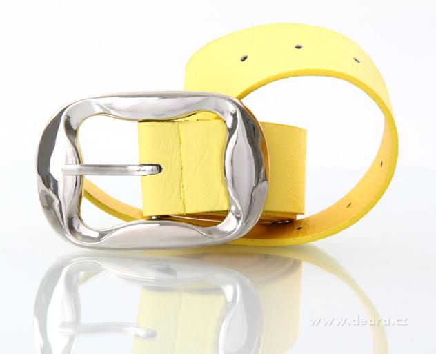 Dámský pásek z ekokůže žlutý