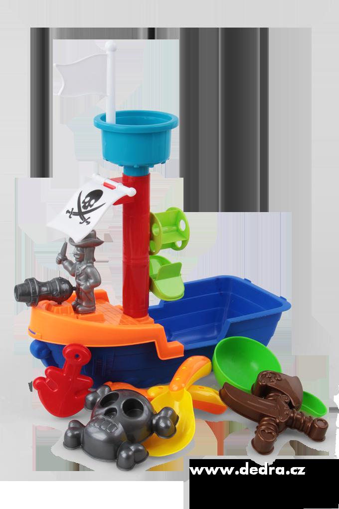 Dedra Pirátská loď XXL 8 dílný set