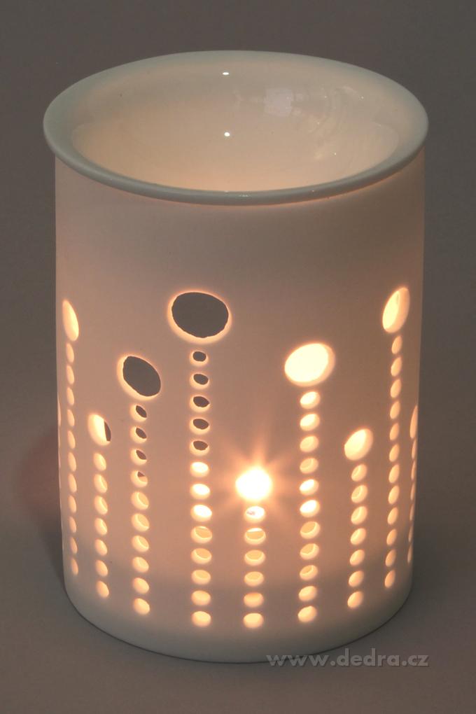 Dedra Keramická aromalampa s krajkovým dekorem