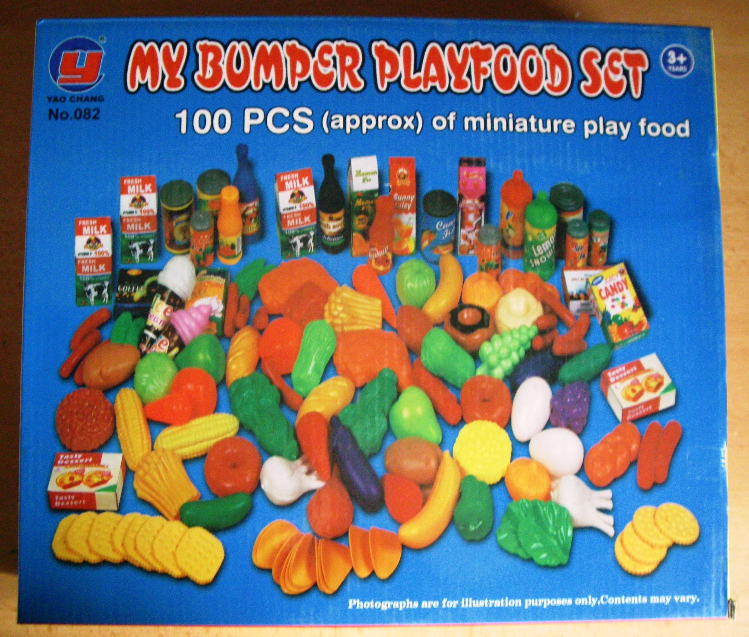 Velká dětská sada ovoce, zeleniny, potravin