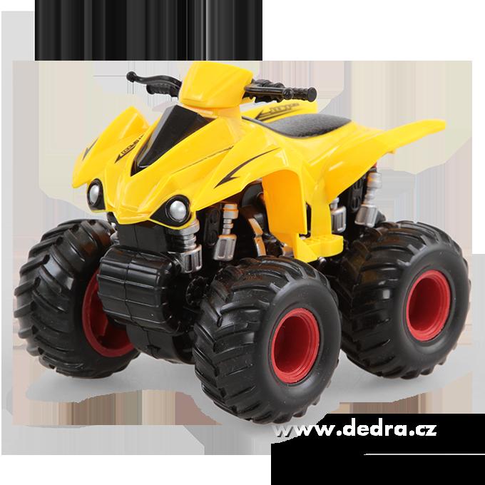 Dedra Terénní SUV auto čtyřkolka žlutá