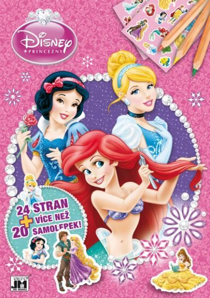 Jiri Models Omalovánky A4 + samolepky Disney Princezny