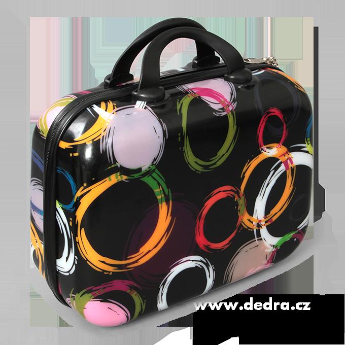 Dedra Kufr příruční menší colored circles 32 x 14 x 24 cm