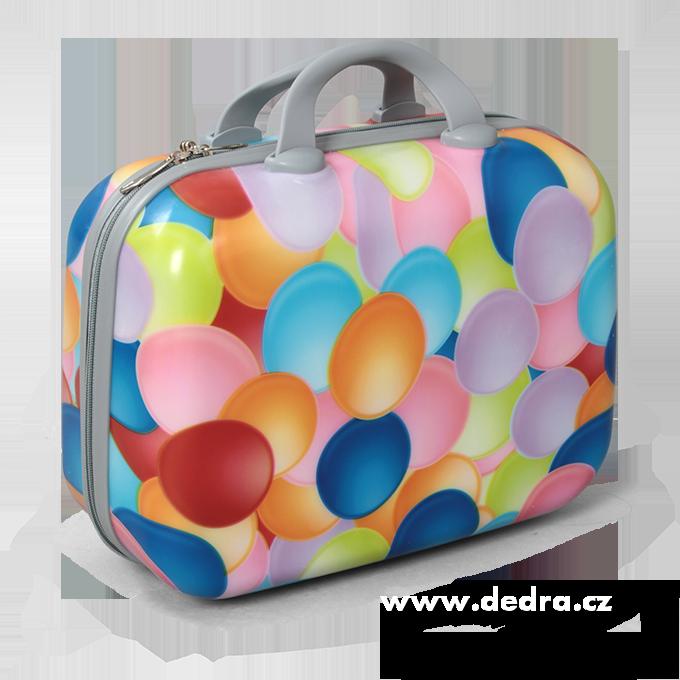 Dedra Kufr příruční větší colorful bubbles 37 x 17 x 30 cm