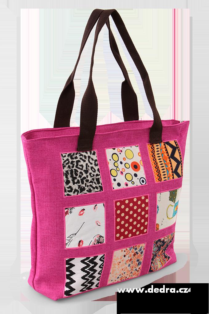 Dedra Nina velká kabelka textilní fuchsiová