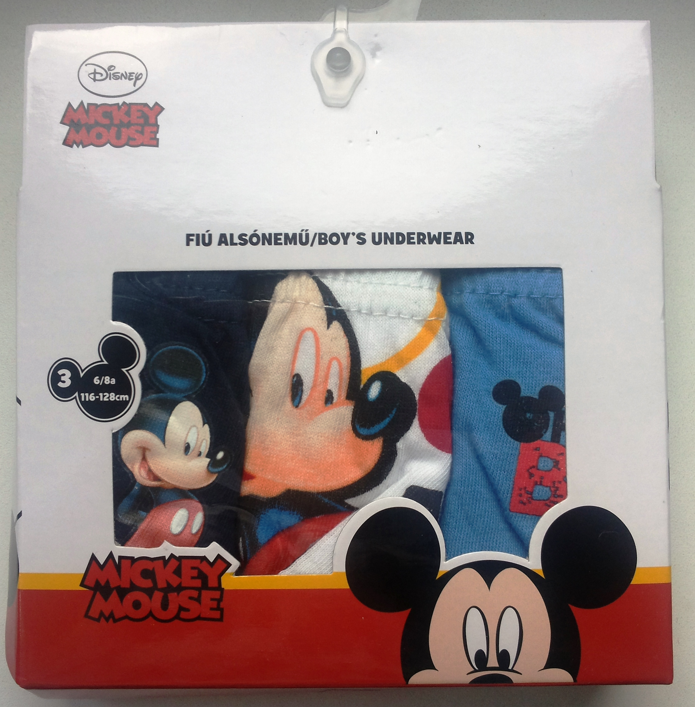 Setino 3ks slipy Mickey Mouse