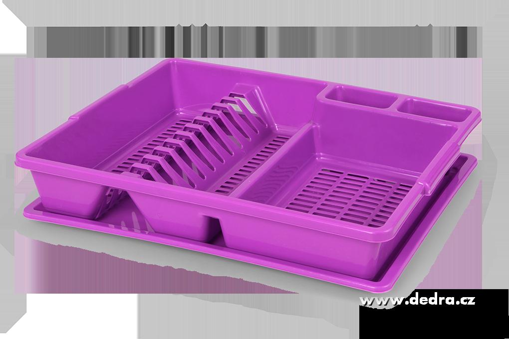 Dedra Odkapátor fialový odkapávač na nádobí