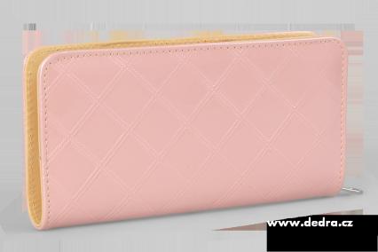Dedra Psaníčko růžové uzavíratelná na zip z ekokůže