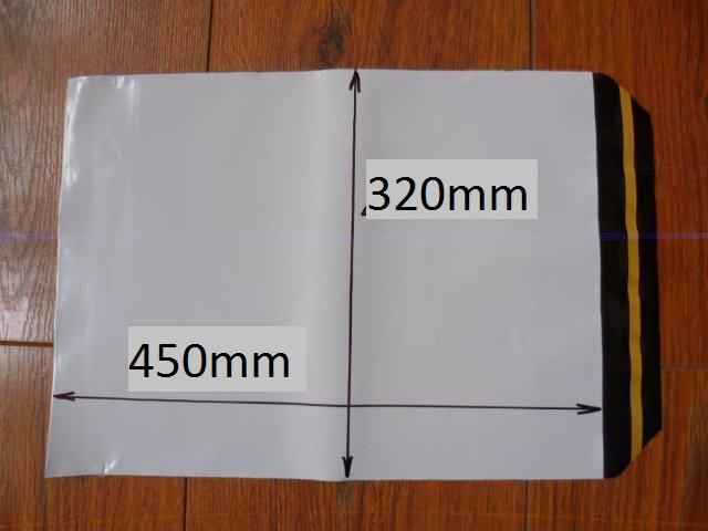 10ks plastová obálka 320x450+40mm klopa