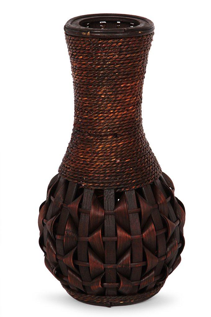 Dedra Váza z bambusové dýhy a proutí