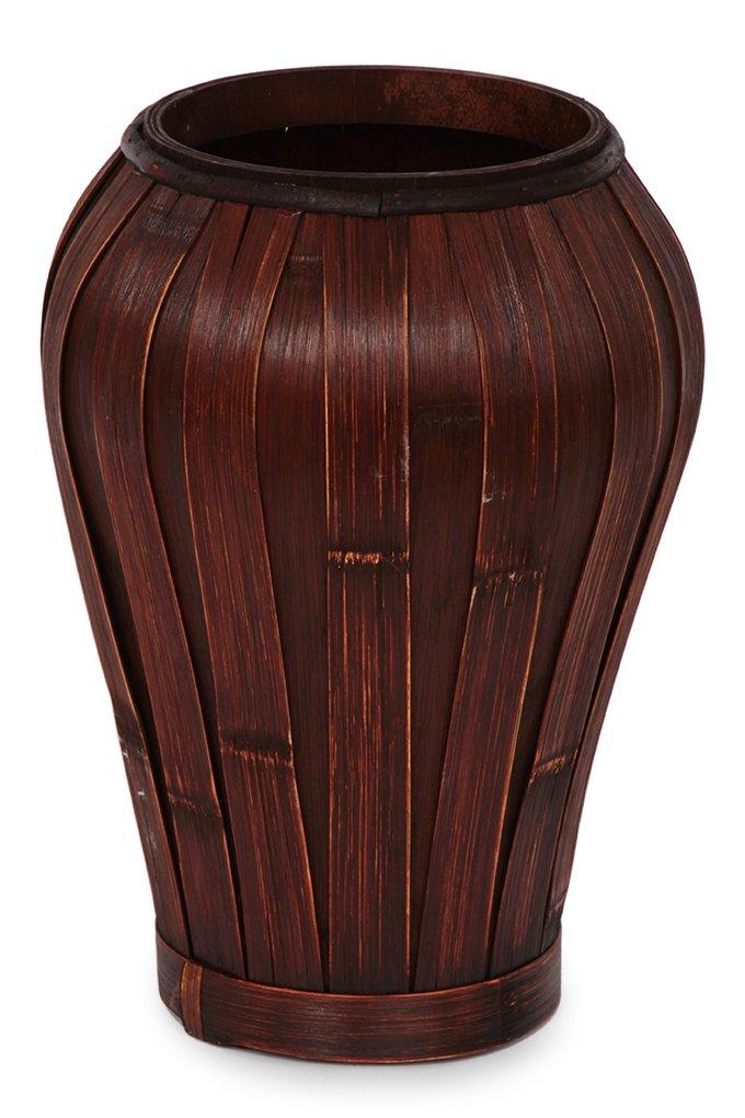 Dedra Váza z bambusové dýhy mahagonová