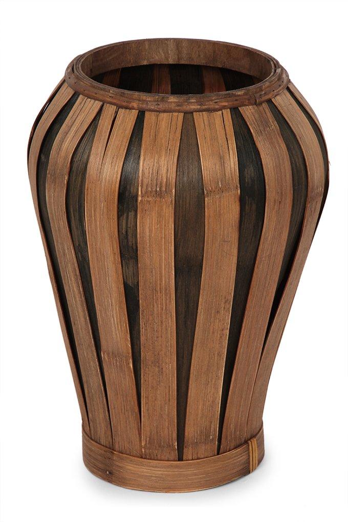Dedra Váza z bambusové dýhy přírodní hnědá