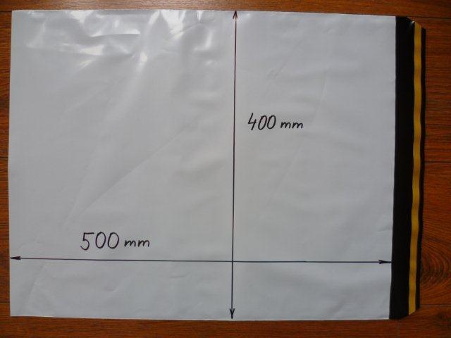 100ks plastová obálka 400x500+40mm klopa