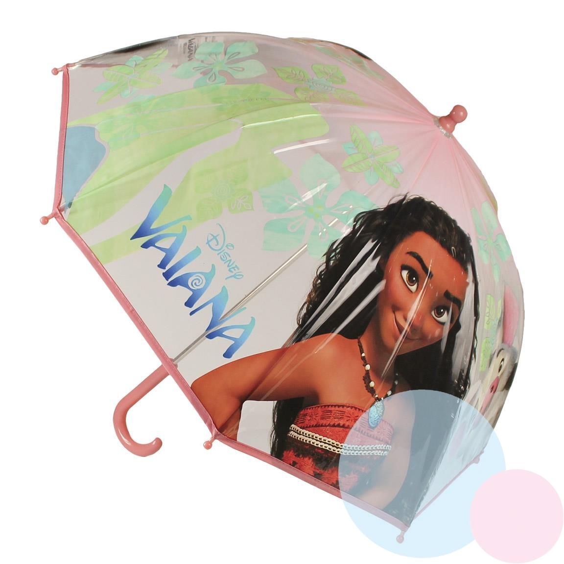 Fotografie Cerda Dětský průhledný deštník Odvážná Vaiana