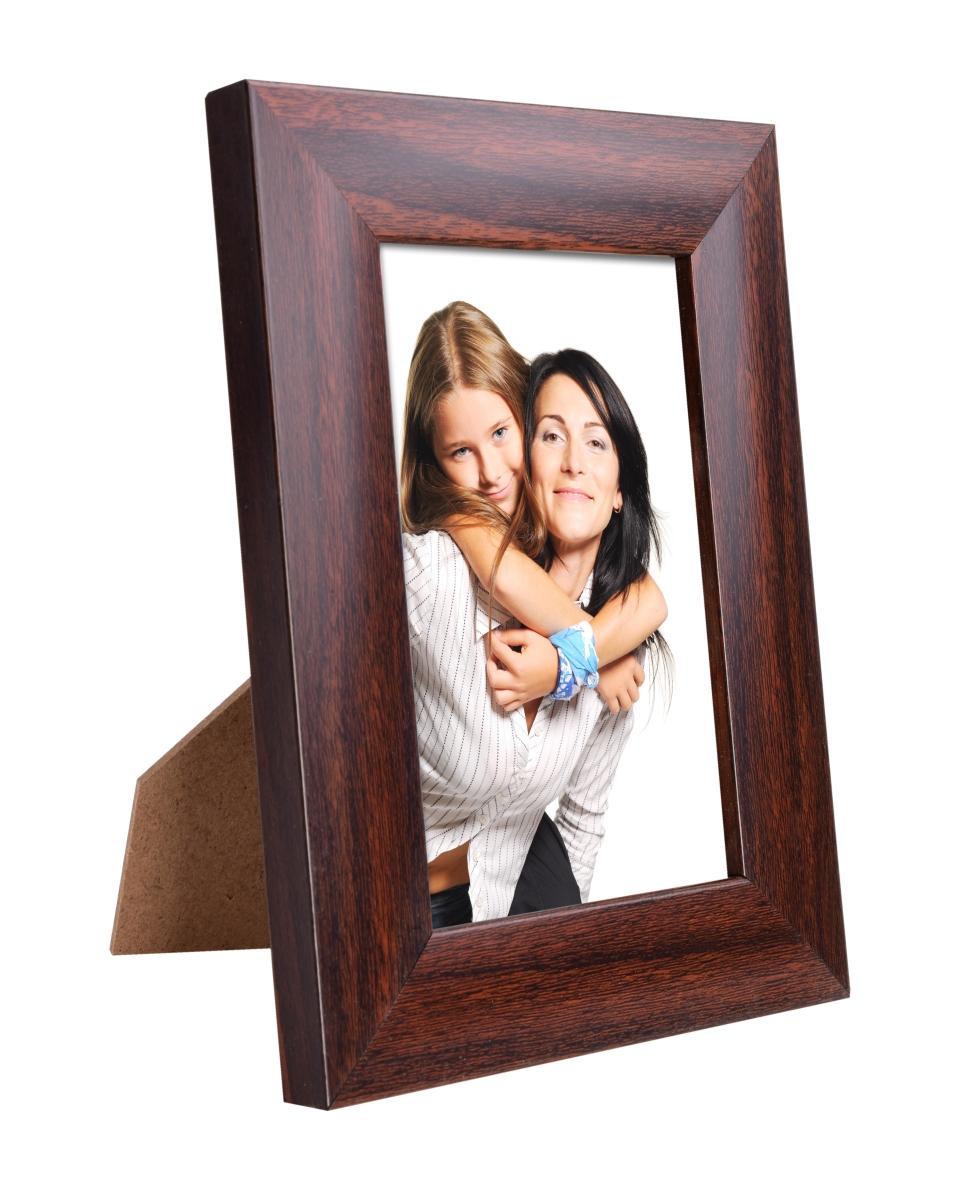 Dedra Dřevěný fotorámeček mahagonový na foto 9 x 13 cm