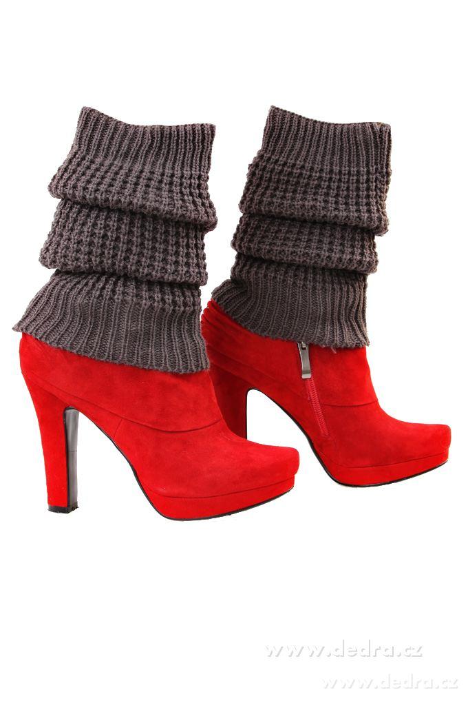 2 ks pletených návleků na nohy více barev