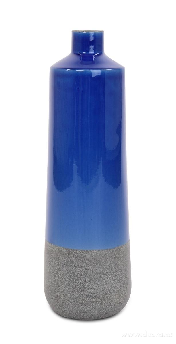 Dedra Keramická váza vysoká 55 cm modrá