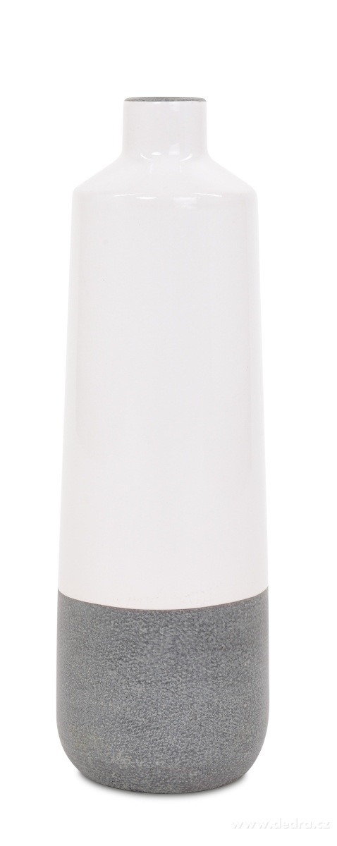 Dedra Keramická váza vysoká smetanová