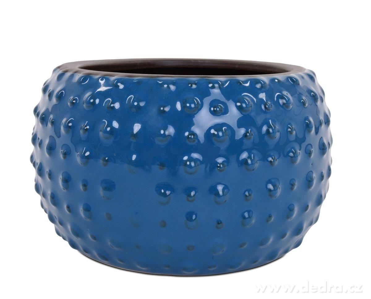 Dedra Keramická váza nebo obal na kv/ětináč tmavě modrá