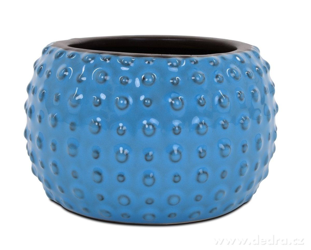 Dedra Keramická váza nebo obal na kv/ětináč světle modrá