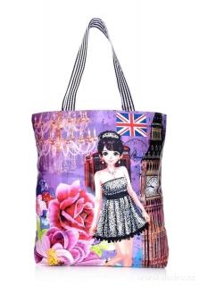 5b95986d403 Dedra Elegantní kabelka v přední části z ekokůže British lady empty